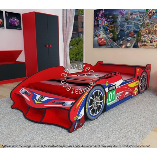 F1 Racing Sport Car Super Single Bedframe Without Wheels Lk 1000